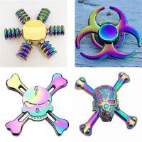 Metal Rainbow Fidget Spinner Finger Aluminium EDC Bearing Stress Relief Toy ADHD