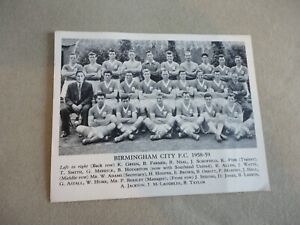 BIRMINGHAM CITY F.C. 1958/59 TEAM PHOTOGRAPH