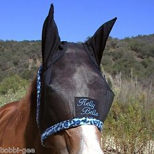CUSTOM MADE EMBROIDERED HORSE FLY MASK with ear protection – By BobbiGees