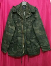 NWT Abercrombie & Fitch Mens Camo Military Field Jacket Parka ~ M