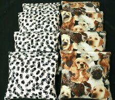 DOG Lovers Puppy Paws 8 ACA Regulation Corn Hole Game Bags