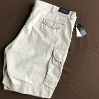 NEW Polo Ralph Lauren Gellar Fatigue Cargo Shorts Mens 50B x 9 Beige