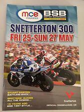 MCE BSB British Superbikes Programme Snetterton 300 May 2012