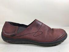 Patagonia Gypsum Mars Red Leather Slip On Flat Comfort Walking Shoe Womens 6.5