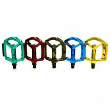 WELLGO MG-3 Fixed Pin Bike Glossy Pedals Camouflage, Green, Red, Gold, Blue