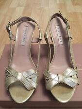 PURA LOPEZ sandales textile coloris doré talon : 9 - Taille 37