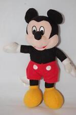 "Mickey Mouse Walt Disney 2007 Black Red shorts Yellow Shoes 8"" Plush Stuffed Toy"
