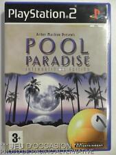 COMPLET Jeu POOL PARIDISE INTERNATIONAL EDITION playstation 2 sony PS2 billard