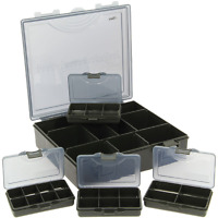 XL Tackle Box schwarz inkl.4 Kleinteileboxen 23,5x22,5x6cm Systembox 4+1 Tackle