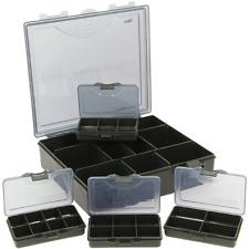 XL TACKLE Boîte Noir inkl.4 boîtes pour petites pièces 23,5X22,5x6cm Systembox 4