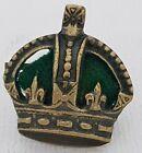 Officers rank crown Kings Crown Darkened green cushion 25*23mm