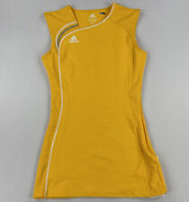 Adidas Womens Tennis Lawn Dress College Gold/White Size Small