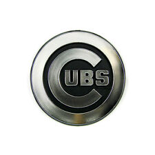 New MLB Chicago Cubs Chrome 3-D Chrome Plastic Auto Car Truck Emblem Made in USA