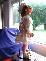 "Doll Seymour Mann 30"" life size ""Playing Bride"" Victorian Porcelain Collector St"