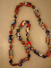Vintage 4u2fix  Italian venetian murano millefiori rectangular round necklace