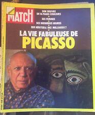PARIS MATCH 1250 Décès de Picasso Cartland Negre Moustaki