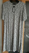 Ladies Size 12 Dress Tshirt M&S Collection Leopard print Cream Short Sleeves BNW
