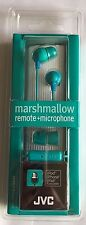 Jvc Hafr37G Marshmallow Inner-Ear Earbuds w/Mic & Remote Teal Color