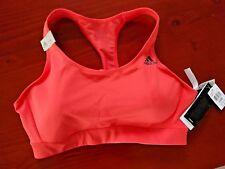 Adidas Women's Sports Bra - SB 3S Bra - Orange/Coral - LCD - RRP $60.00
