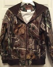 Deer Camp Hooded Jacket Size Youth Large Camouflage Hunting Fishing