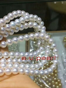 """long top luster 48""""9-10mm REAL natural south sea white pearl necklace 14K gold"""