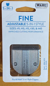 Wahl Professional Animal Clippers 5-in-1 Adjustable Fine Cut Blade 2179-301 NEW!