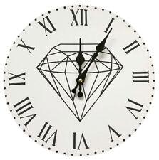 Vintage Wanduhr Analog Küchenuhr Diamant Wohnzimmer Luxus Stylish Diamond Uhr