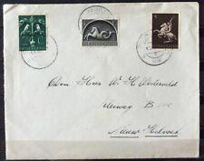 NEDERLAND; NVPH 405 + 408 + 410 op brief met dagtekenst. POORTUGAAL 11-10-43
