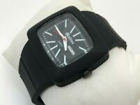 Altrec Watch Date Day Calendar Analog Black Rubber Band Wrist Watch 3ATM Japan M