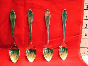 4 x  W & B 90  Silver Antique Vintage Teaspoons Tea Spoon Retro