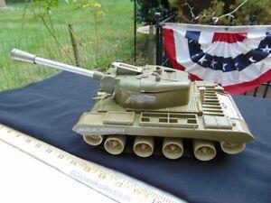 Vintage 1960's Remco Light Bulldog Tank US Army #24 Military Repair or Parts