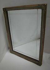 Wandspiegel geschliffenes Glas Holzrahmen Spiegel 42x32 cm
