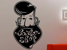 Barber Shop Logo Vinyl Decal Wall Sticker Hair Haircut Salon Window Decor 3pzz