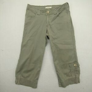 Christopher Blue Womens 6 Capri Pants Gray Stretch Flat Front Cropped