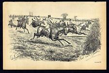 THAT BRUTE BAREBONES 1883 Finch Mason Horses LITHOGRAPH