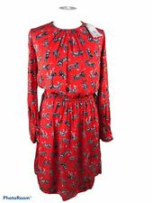 BNWT TU Red Tiger Print Dress Elasticated Waist UK Size 8 Long Sleeve B