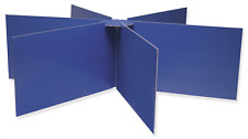 """Pacon Round Table Privacy Boards, 48"""" Diameter X 14"""" High, Blue Pac3788"""