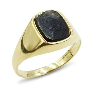 Pre-owned Gold Onyx Ring 9ct