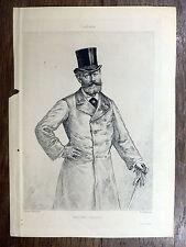 GRAVURE F. Courboin d'après Édouard Manet - Portrait de Antonin Proust L'ARTISTE