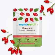 Mamaearth Hyaluronic Bamboo Face Sheet with Rosehip Oil for Soft & Plump Skin