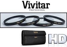 4Pc Vivitar Close Up Macro Lens For Sony DSLR-A580L DSLRA580 DSLR-A390L DSLRA390