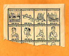 Early Denmark or Sweden Boy Scout Stamp or Seals partial Set 1930's? Camping