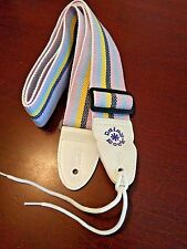 Daisy Rock Pastel Stripe Adjustable Guitar Strap Pink Blue Yellow Purple Officia