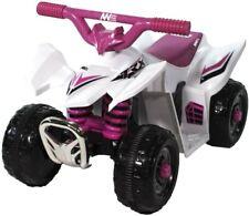 AWA Mini Quad Bike 6 Volt Ride on White Pink 6v From Mr Toys