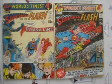 DC World's Finest Comics 198 and 199 Superman Flash 3rd race