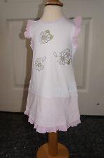Monnalisa bebe Kleid weiß/rosa   🌺 9   Monate    🌺NEU Sommerkleid