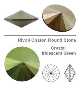 Genuine SWAROVSKI 1122 Rivoli Foiled Round Stones Glue Fix * All Sizes & Colors
