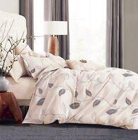 Elegant Leaves 100% Cotton Bedding Set: Duvet Cover Set or Sheet Set, All Sizes