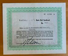 Duits Kali Syndicaat - Vereeniging voor den Effectenhandel