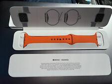 Authentic New HERMÈS Orange APPLE Watch Series 6 Rubber Sport band 44 fits 3,4,5